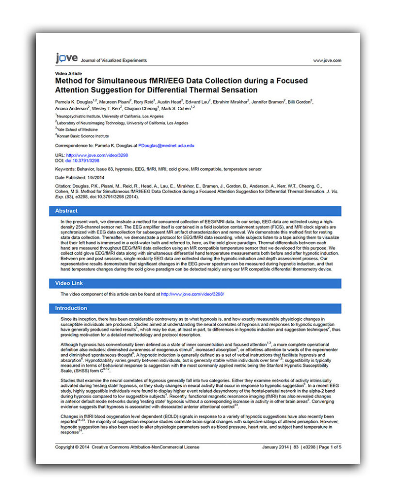 Method-for-Simultaneous-fMRI-EEG-Data-Collection-report
